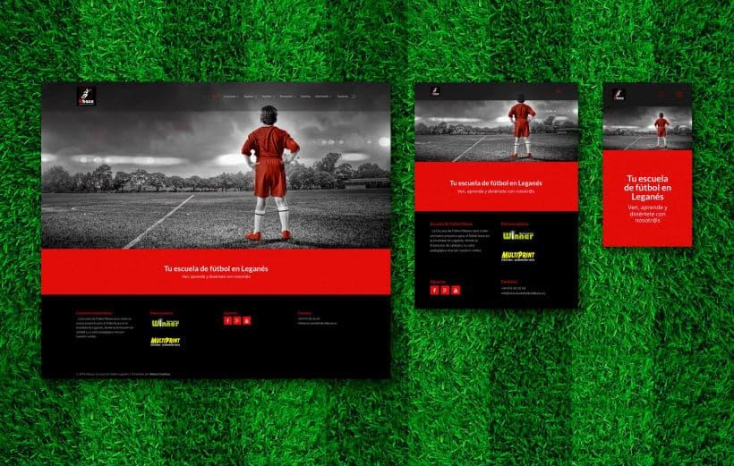 plantilla web de futbol